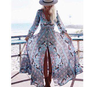 Dresses & Skirts - Boho Chic Gypsy Floral Print Maxi Dress